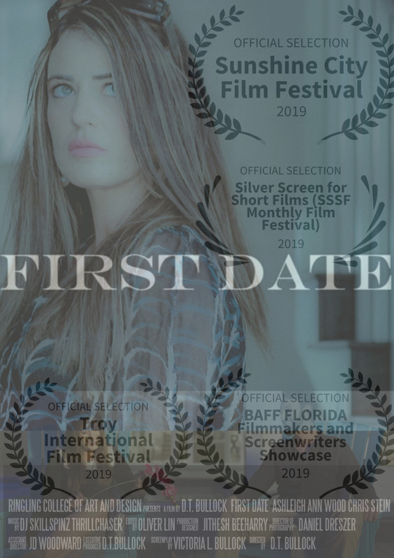First Date - Directed by: D.T. BullockAdriana has limited communication with the outside world after two years of intensive counseling for her PTSD from an event that removes her from an ordinary life that she deserves. Adriana the CEO of an international firm uses her corporation as an escape route to portray business as usual for her attitude but her reality is absolute fear. With minor optimism, Adriana prepares for a First Date with someone she barely knows. A First Date is a new journey that stands in her way but will Adriana leave the door closed on her First Date?