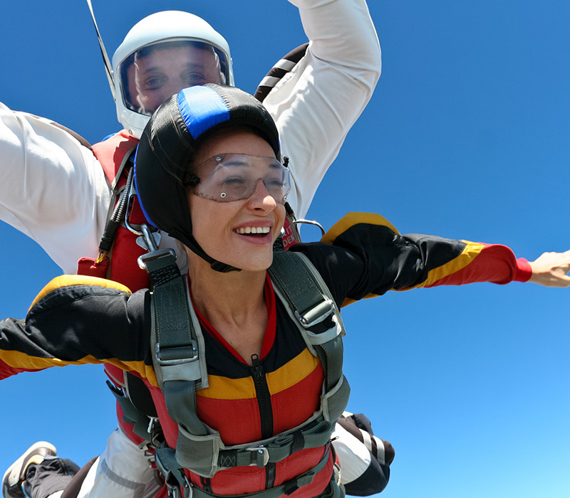 LEARN TO SKYDIVE as a TANDEM, our program - JOY RIDENO RESPONSIBILITYBUCKET LIST ITEMA LOT OF FUN!