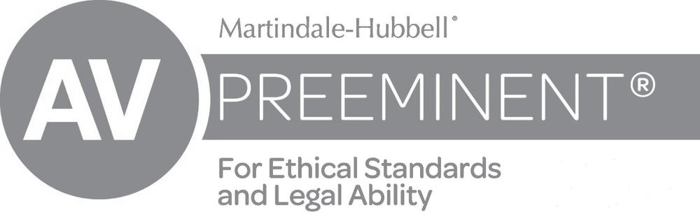 Whitmer & Ehrman AV Preeminent Award