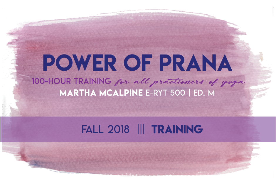 Designed for Martha McAlpine's 100 Hour Training at YogaWorks.
