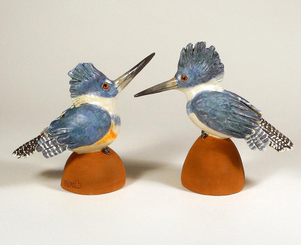 """Kingfishers (l. 10""""x5""""x11"""", rt. 12""""x5""""x12"""")"""
