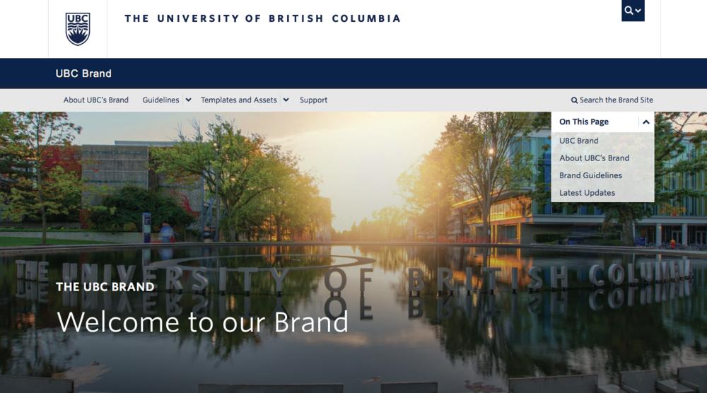 UBC Brand Site