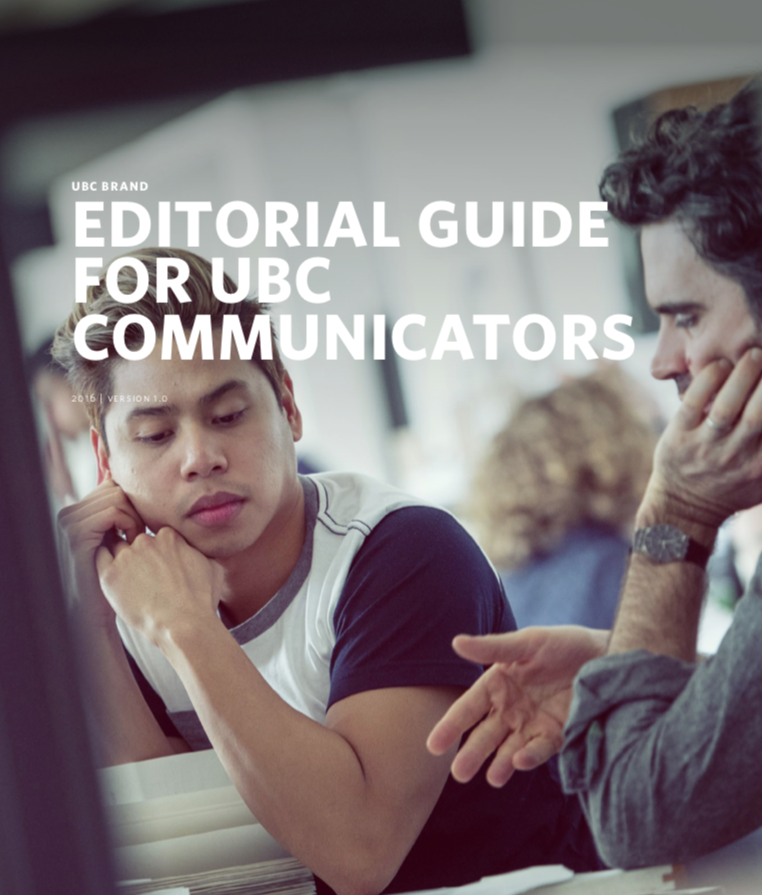 UBC Editorial Guide