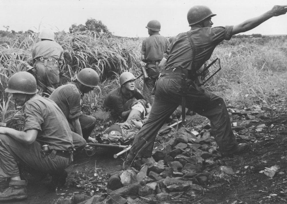Svenska soldater under strid i Kongo under början av 1960-talet. Foto: