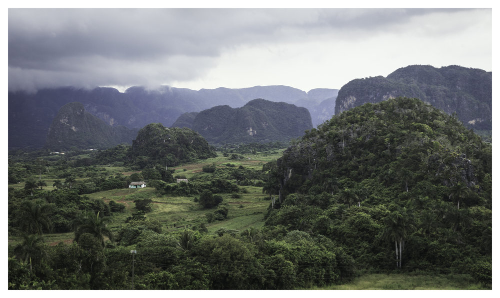 Mountainside view of Viñales, Cuba, province of Pinar del Rio  1/100 f/9.0 ISO 250 at 50mm