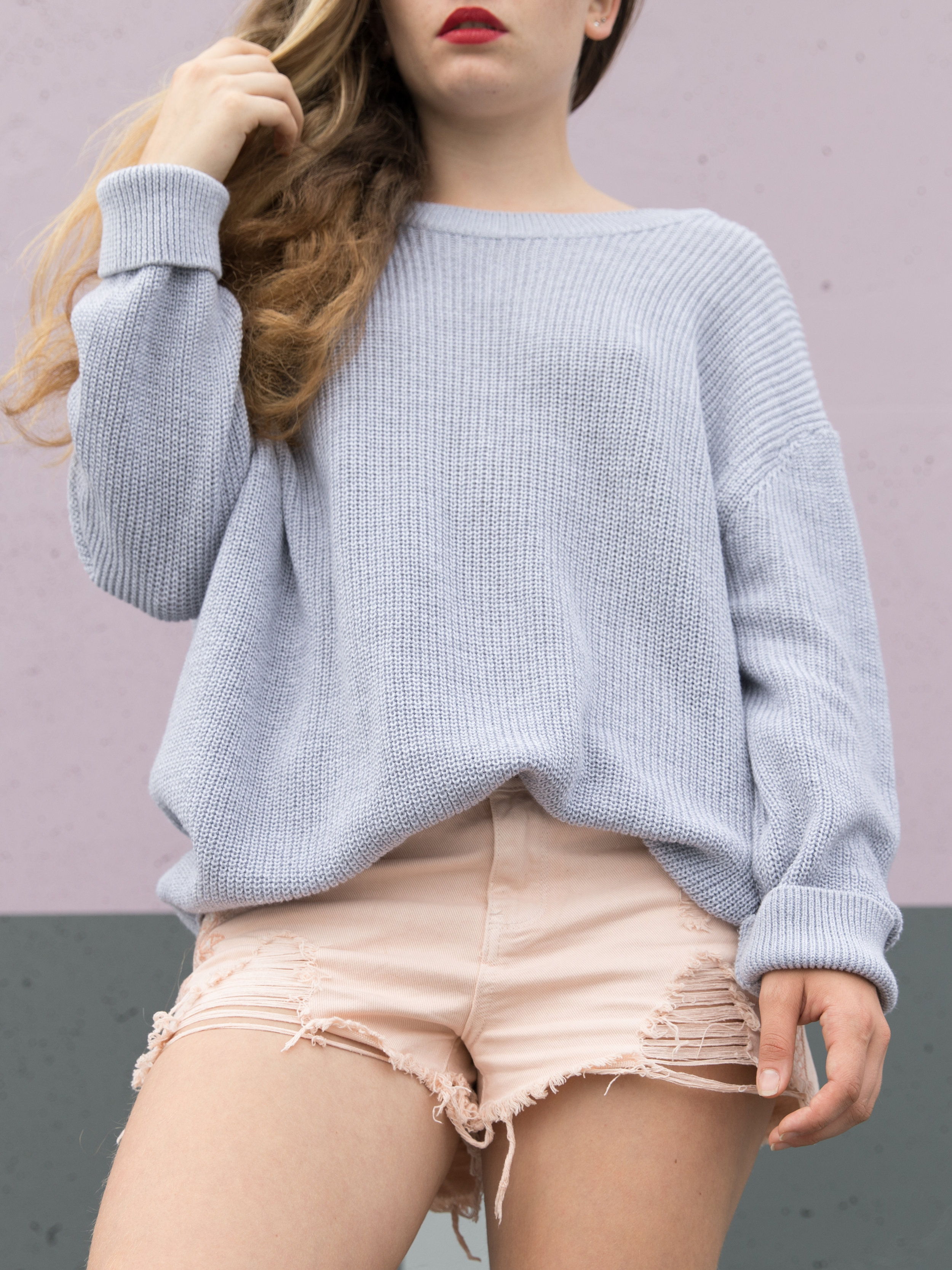 Pull oversize dos nu