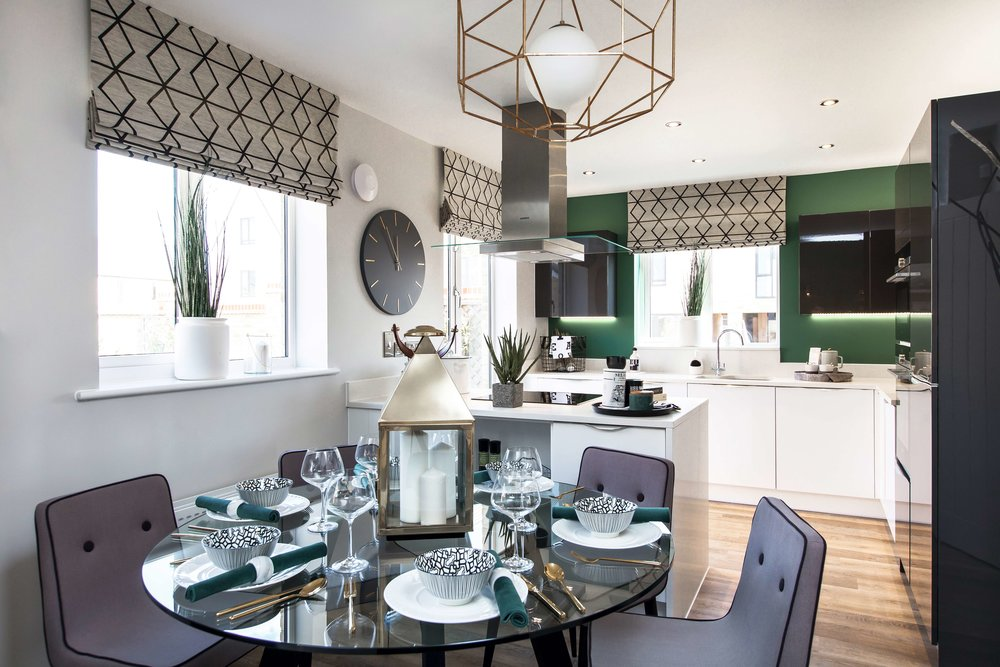 Internal shot of the kitchen at the show home in Northstowe