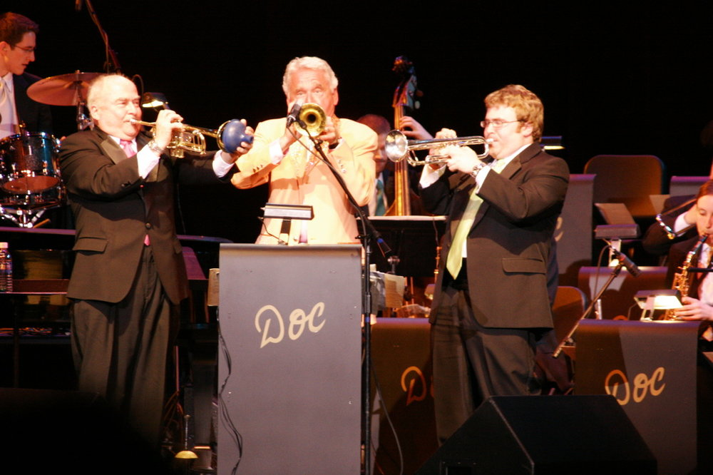 On tour with the Doc Severinsen Big Band, 2007