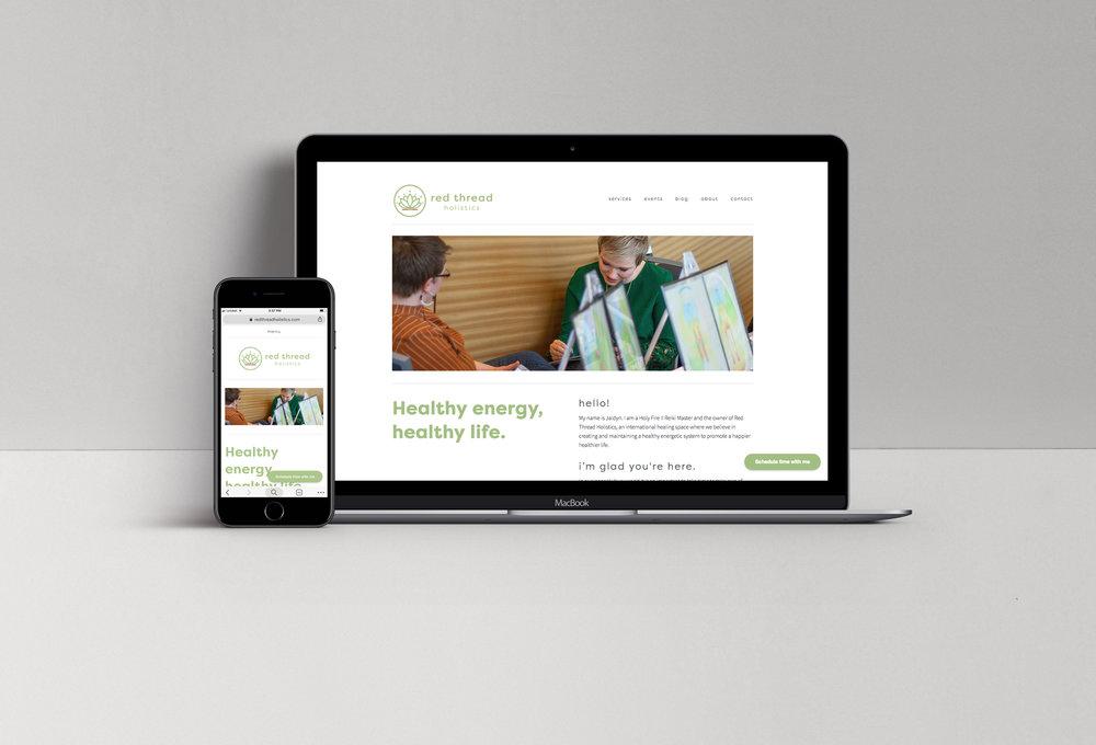 Reiki Energy Healer Squarespace Website