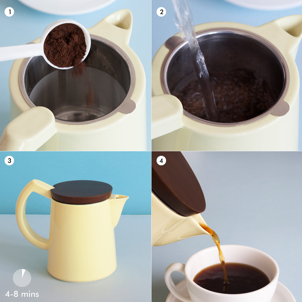 Sowden SoftBrew™ Coffee Brewer - a simple infusion method for brewing coffee