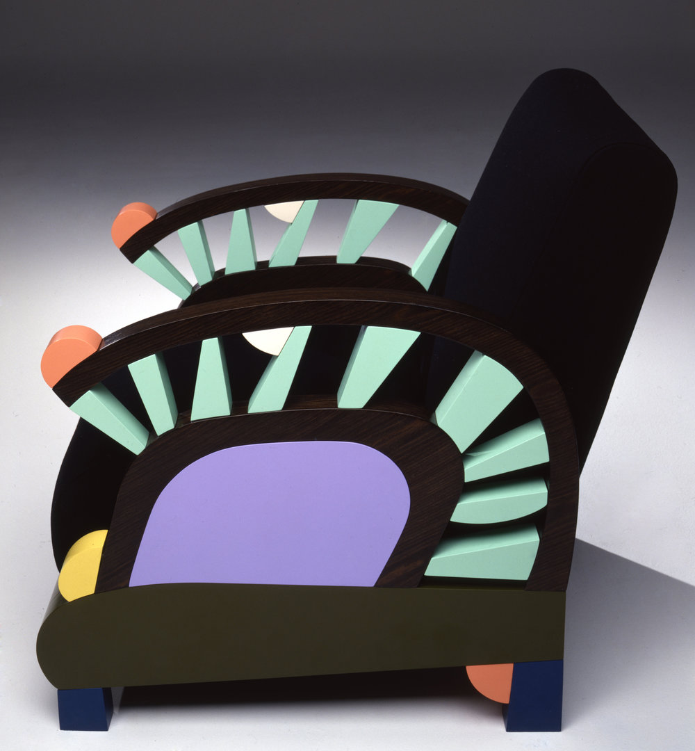 Armchair by George Sowden at The Gallery Mourmans, Maastricht, 1990