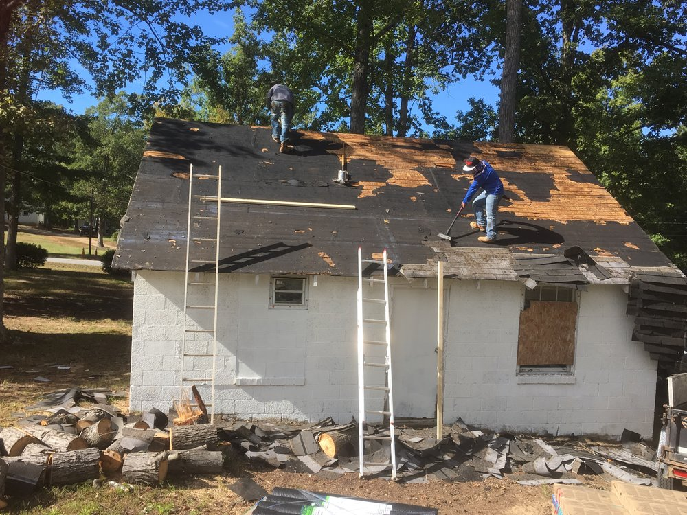 Caretaker Cottage Shingles Removal