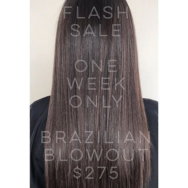 🚨🚨FLASH SALE🚨🚨 End of summer Brazilian Blowout sale! One week only! $350 value. Follow link in bio to book appointment or Call to inquire 13123323842! Mention this ad! *exclusions apply *select stylists only