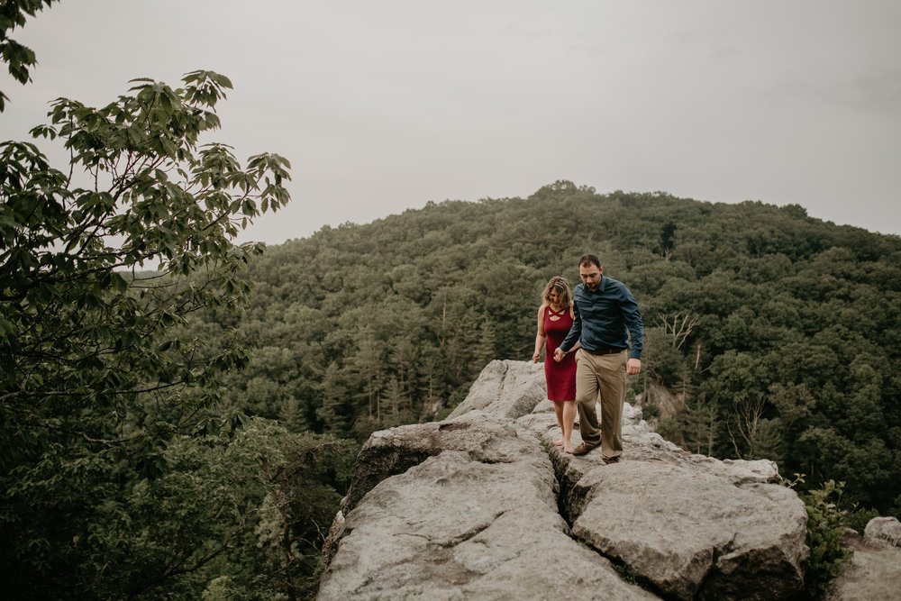 Nicole-Daacke-Photography-rock-state-park-overlook-king-queen-seat-maryland-hiking-adventure-engagement-session-photos-portraits-summer-bel-air-dog-engagement-session-37.jpg