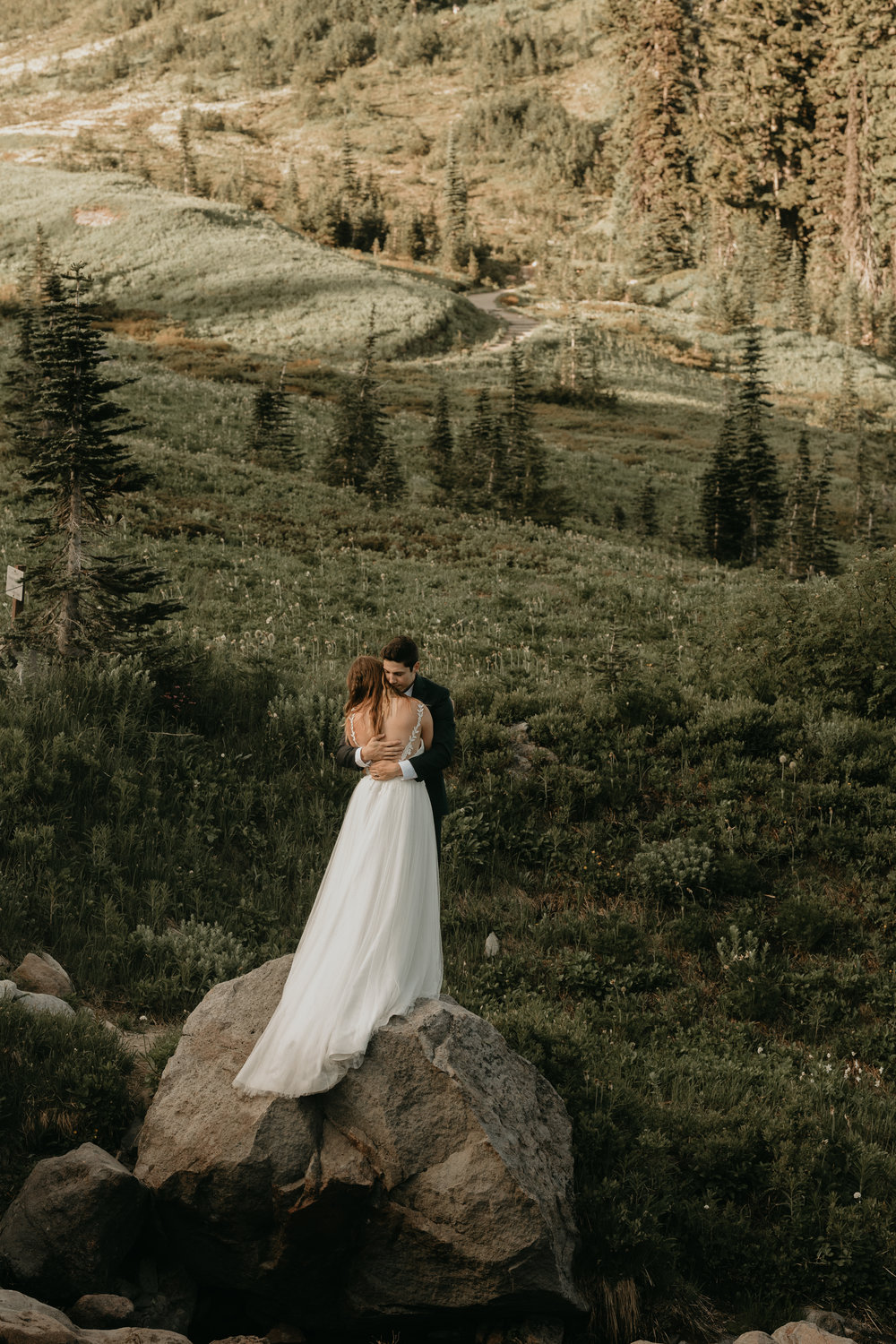 Nicole-Daacke-Photography-Mt-Rainier-elopement-photographer-washington-mountain-epic-wedding-photography-wildflowers-at-rainier-pine-tree-cloudy-summer-day-at-mountain-rainier-18.jpg