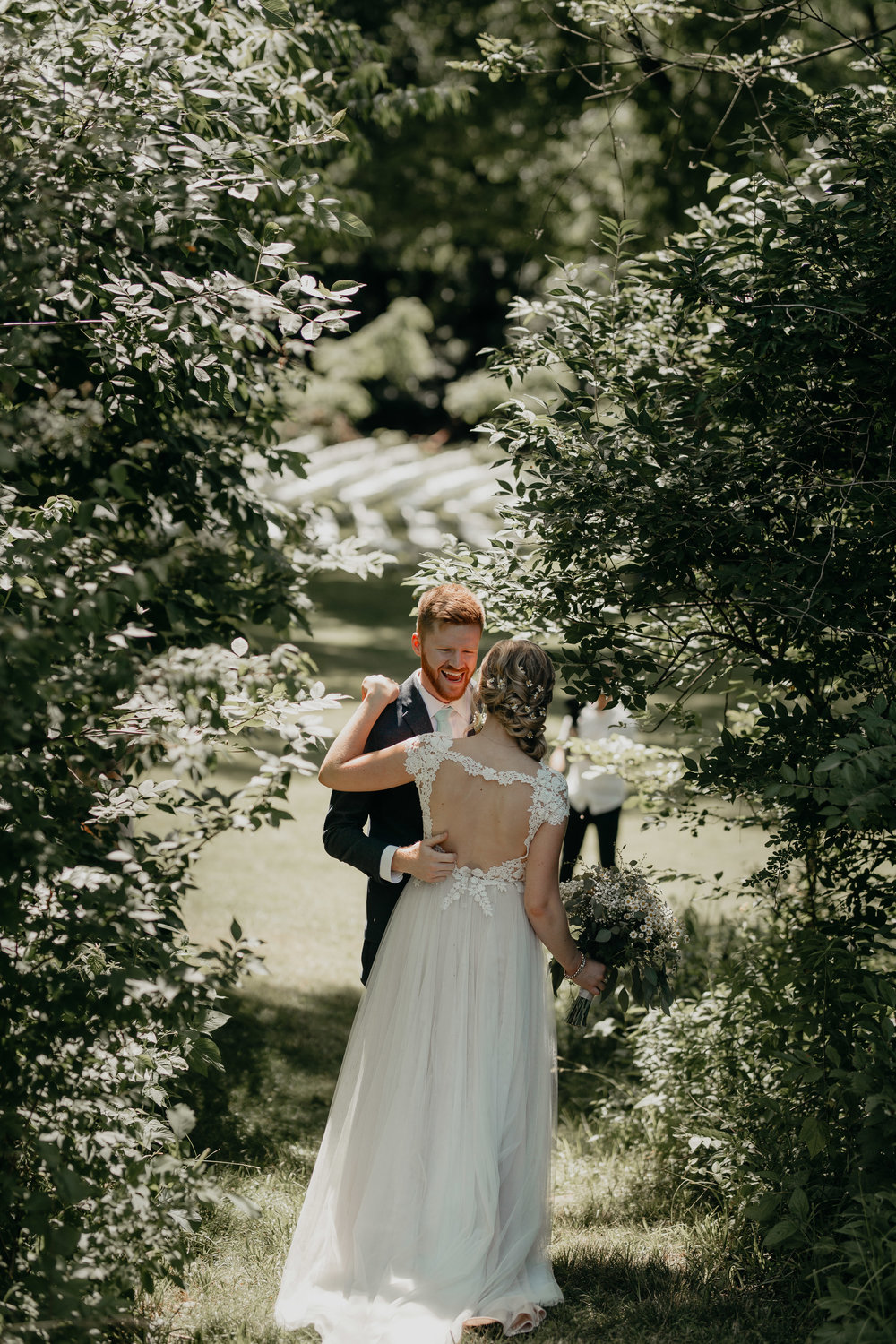 Nicole-Daacke-Photography-pennsylvania-laid-back-outside-backyard-wedding-family-summer-june-maryland-barefoot-bride-woodland-trees-sunset-couple-15.jpg