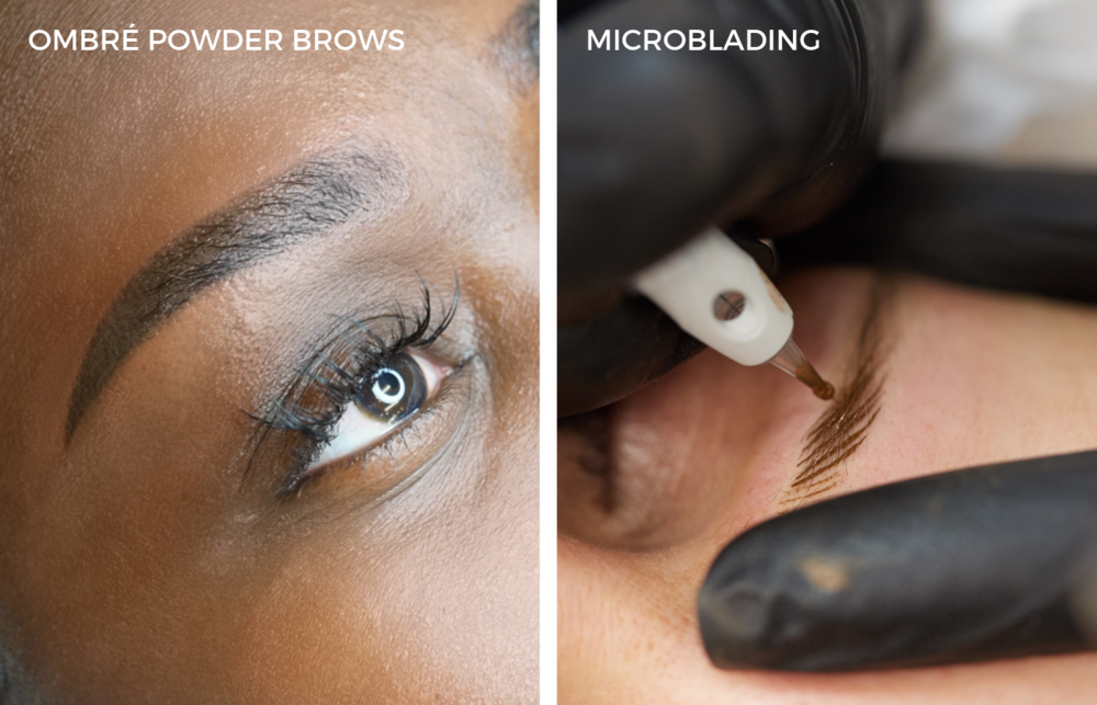 OMBRÉ POWDER BROWS VS. MICROBLADING - Discover why more people are switching over to the latest Ombré Powder Brows technique.