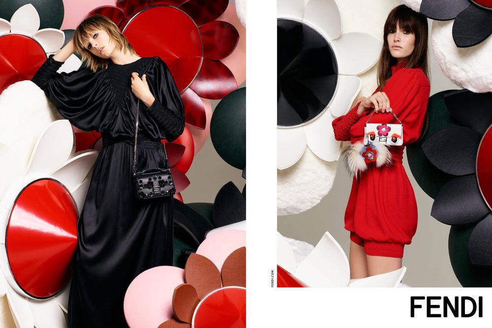 #fendi #karllagerfeld #ss16 #campaign #fashion #ediecampbell #vanessamoody #charlottestockdale #amandaharlech #jimkaemmerling #peterphillips #sammcknight