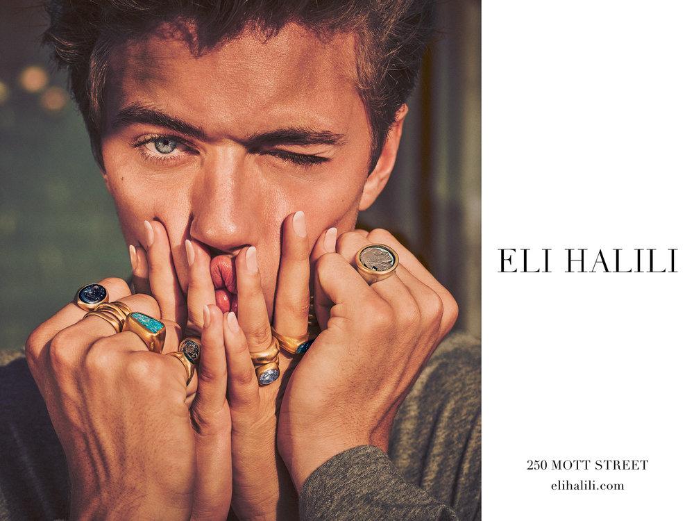 #elihalili #jewelry #campaign #guyaroch #luckyblue #fashion #jimkaemmerling