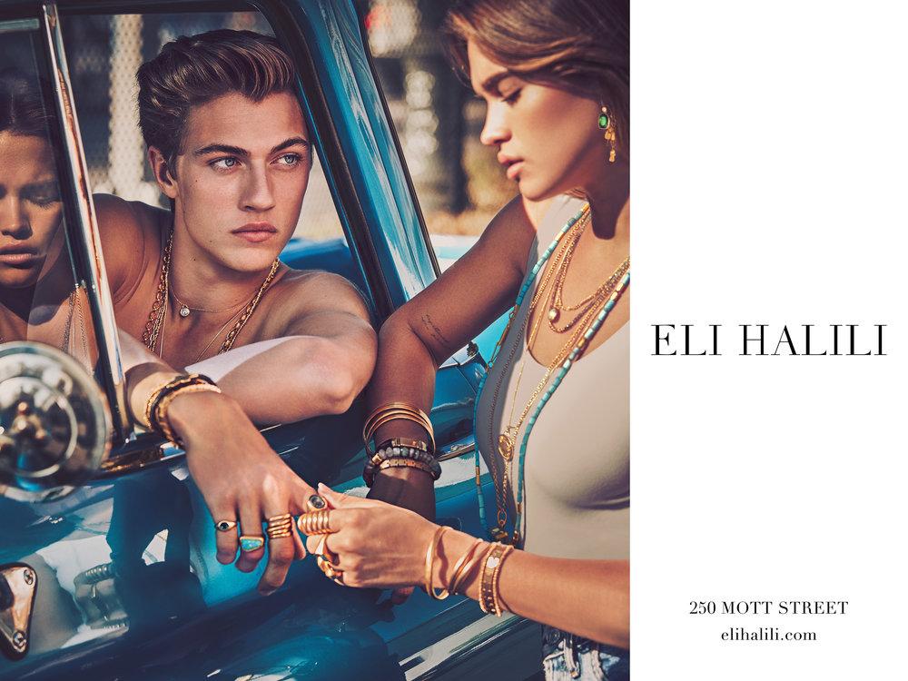#elihalili #jewelry #campaign #guyaroch #luckyblue #stormibree #fashion #jimkaemmerling
