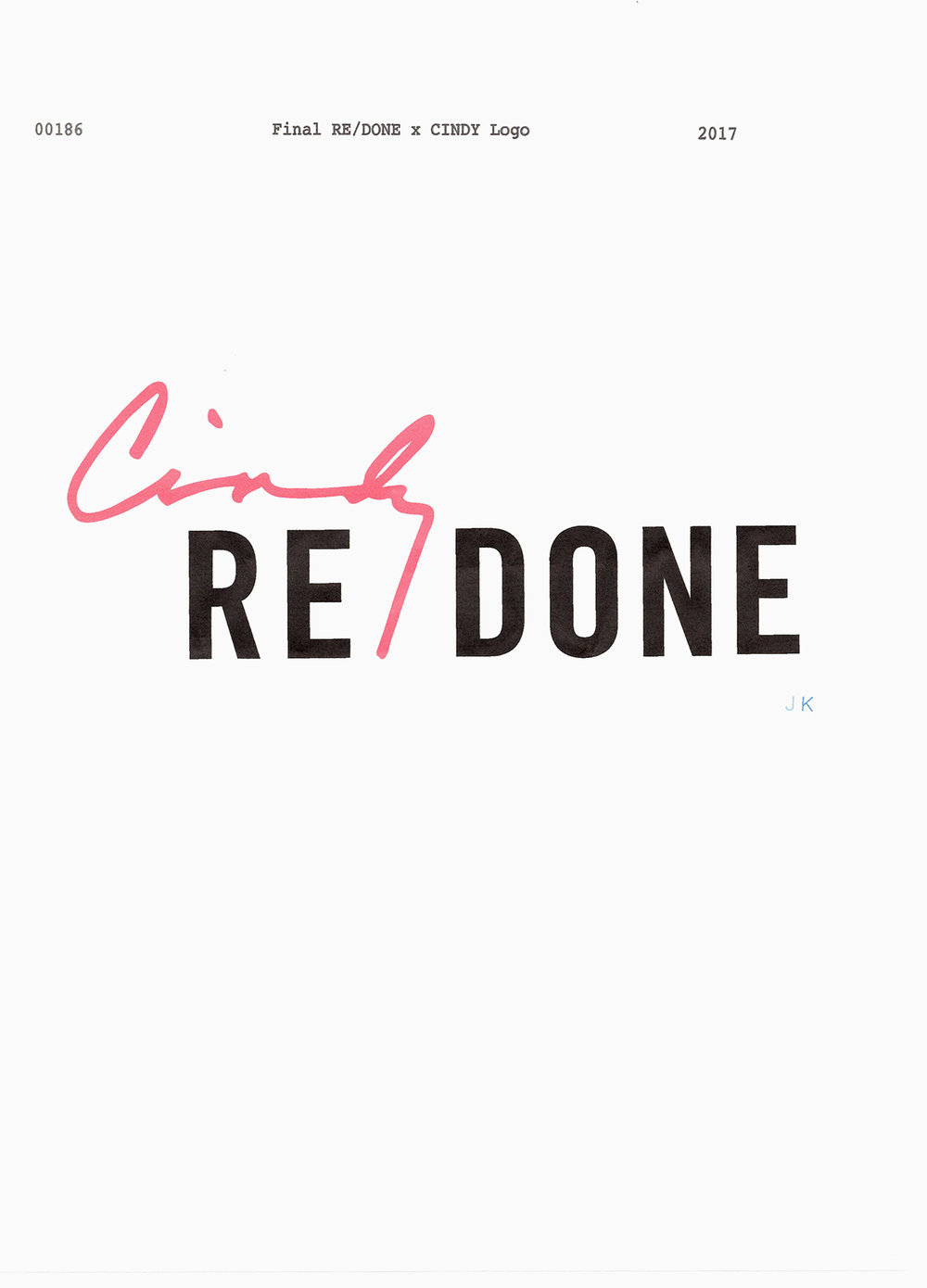 #redone #cindycrawford #logo #typography #jimkaemmerling