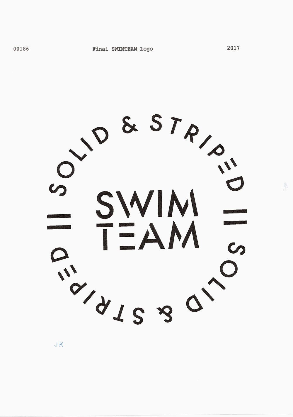 #solidandstriped #swimteam2018 #campaign #logo #typography #jimkaemmerling