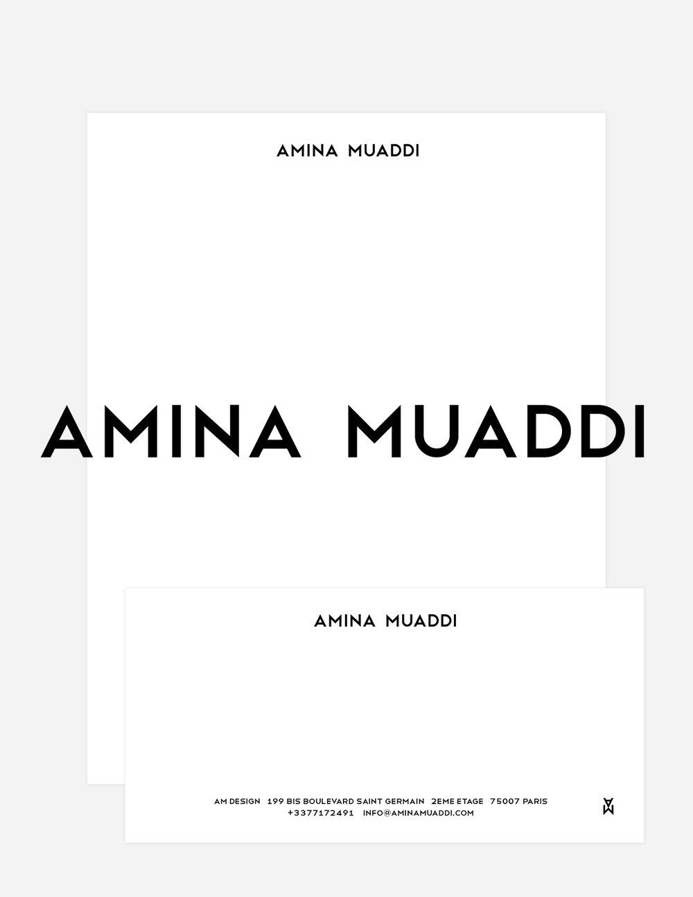 #aminamuaddi #logo #identity #typography #jimkaemmerling