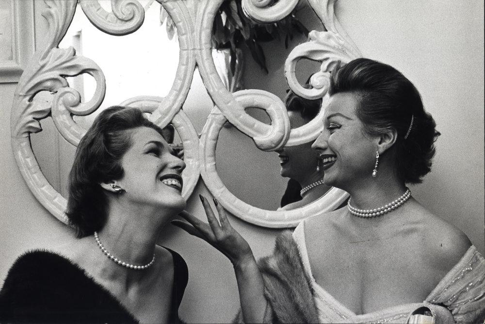Two Women, El Morocco, New York City, ca. 1954 | Dan Weiner Courtesy Steven Kasher Gallery, New York