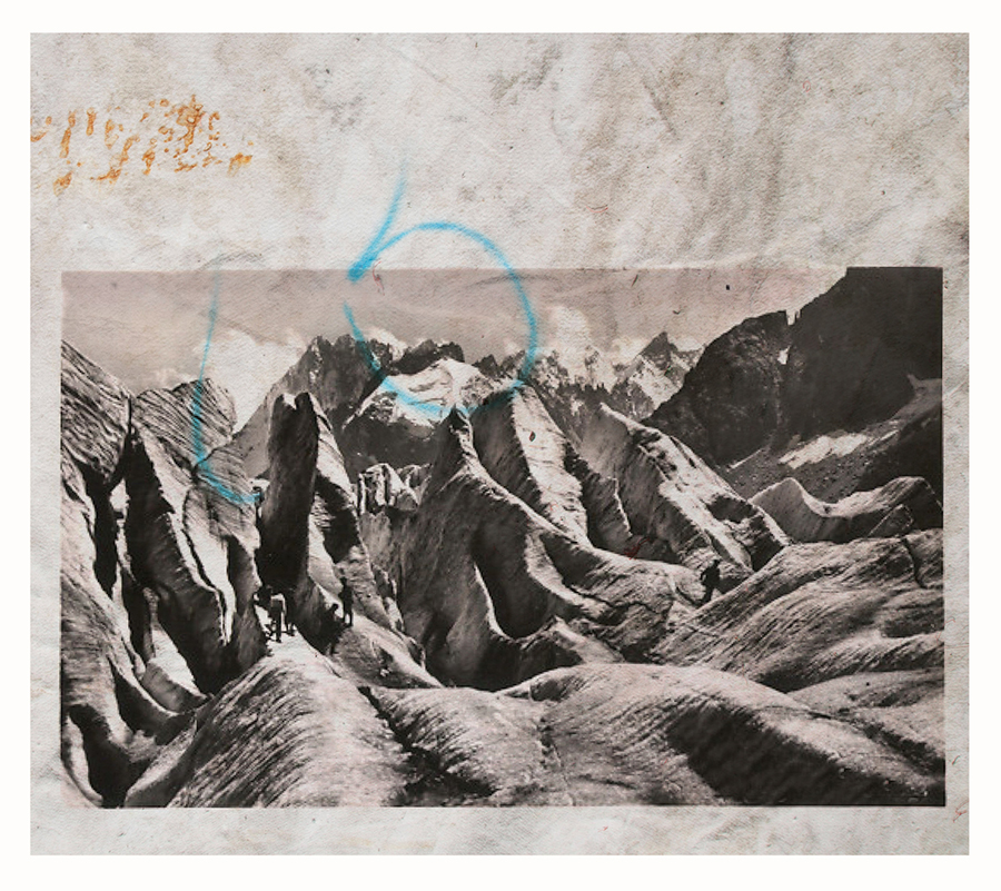 Douglas Mandry, Monument II, 2018, Lithography on Geotextile (glacier blanket), 114 x 130 cm, unique piece