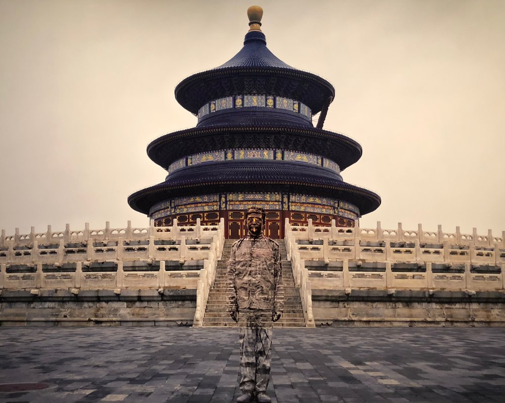"Temple of Heaven, ""Hiding in the City"", 2010 © Liu Bolin / Courtesy Galerie Paris-Beijing"