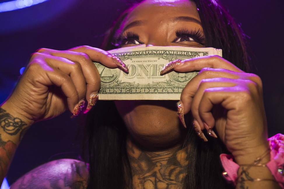 Secret Moneii, 28, a stripper at Magic City who made nearly $20,000 during her first week at the club, Atlanta, 2015. Lauren Greenfield/INSTITUTE © Lauren Greenfield