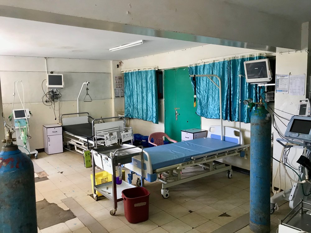 The intensive care unit at the Nigist Eleni Mohammed Memorial Hospital in Hosanna, Ethiopia.