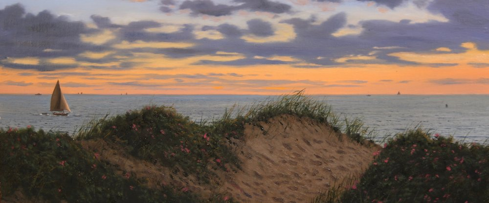 Cliff Dunes at Sunset