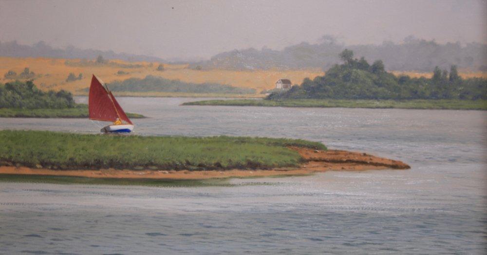 Sailing in the Mist, Martha's Vineyard