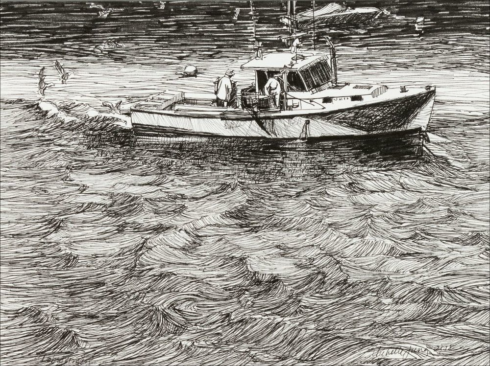 Lobstermen on the Damariscotta ~ Edgecomb, ME