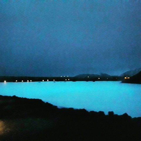 Blue Lagoon in February, with no natural light