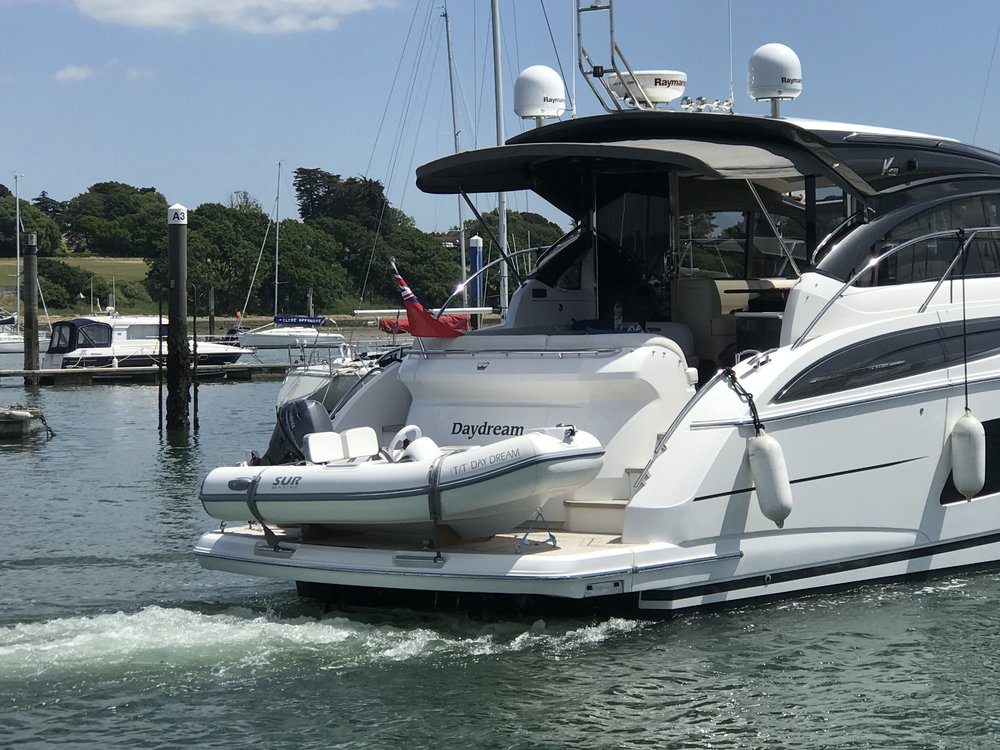 Daydream   Princess V48 Fitted with her new Sur Marine ST290 May 2018
