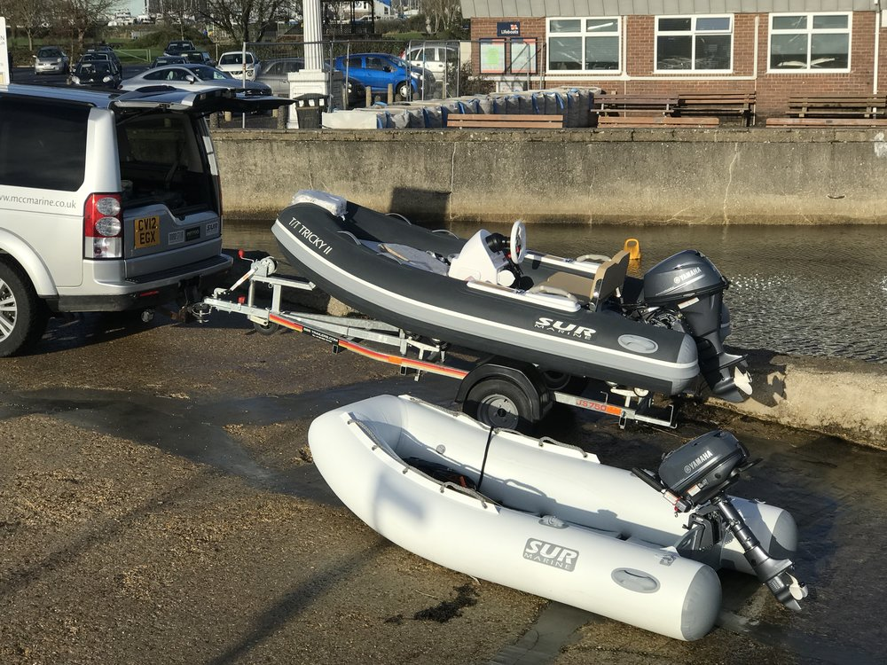 T/T Tricky II   ST310 fitted with Yamaha 20HP delivered to Lymimgton Yacht Haven With SUR LT270