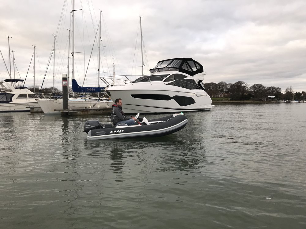 SUR Marine ST310 Fitted with a Yamaha 20hp Ready for Delivery to this Stunning Sunseeker 52 with High Low Platform. 11/02/2019