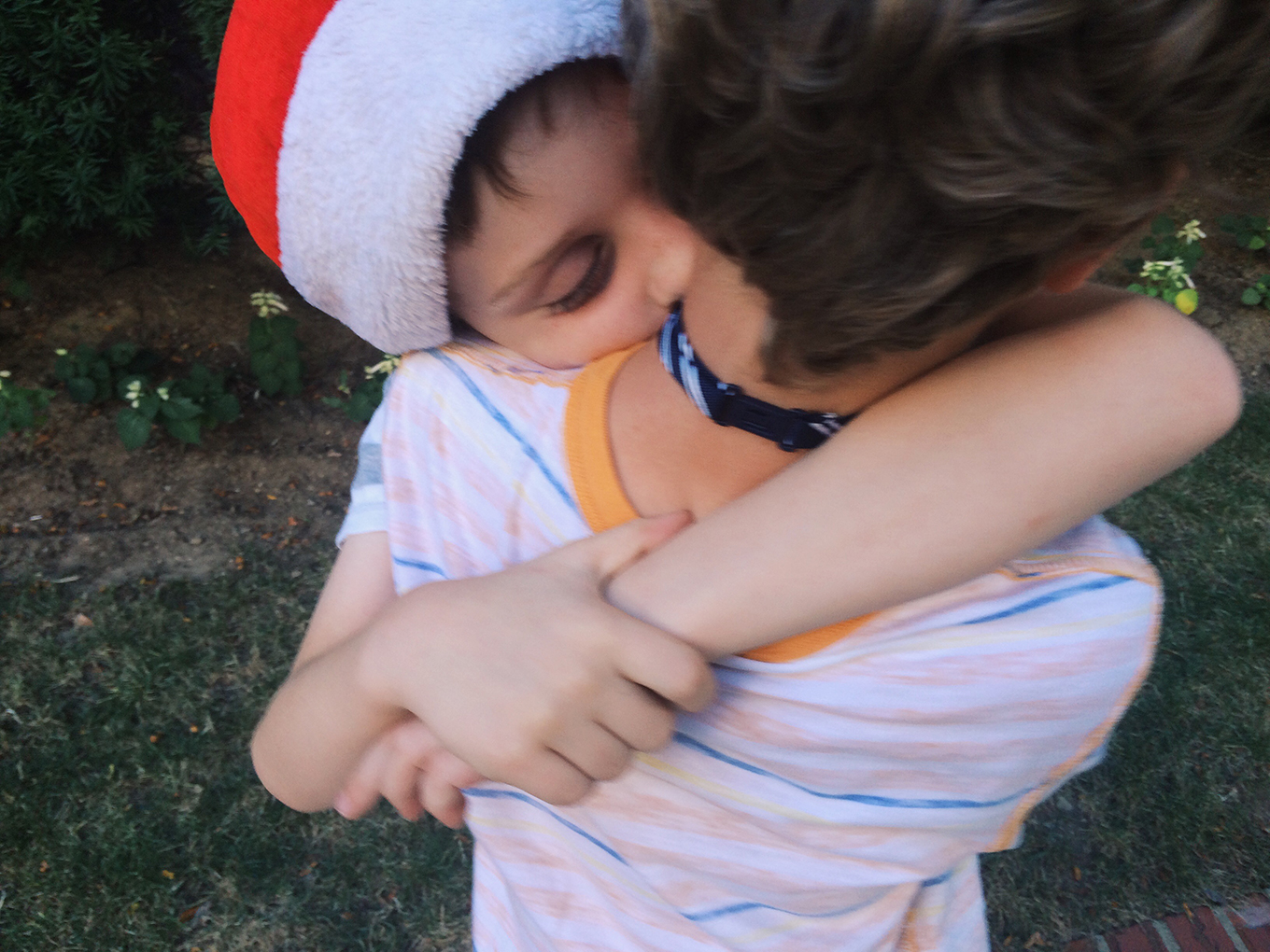 C shows his brother some serious affection