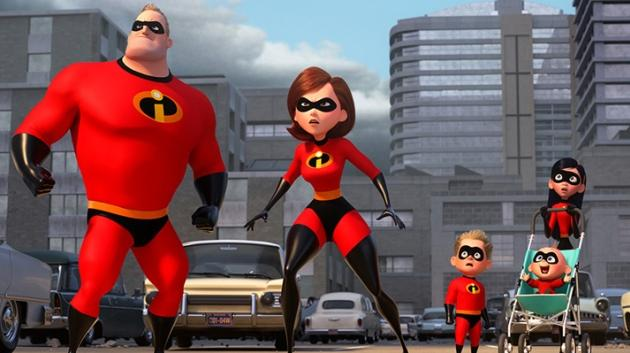 Fig. 2 - The superheroic Parr family.