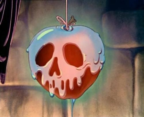 Fig. 6 - The poisoned apple in  Snow White and the Seven Dwarfs .