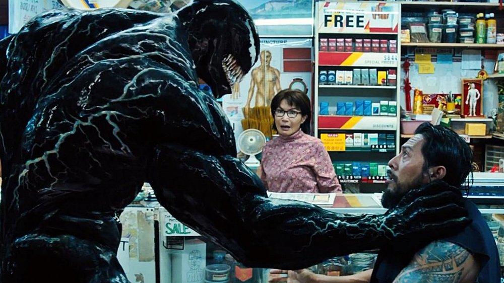 Fig. 4 - The violent fantasies of the symbiote in  Venom .
