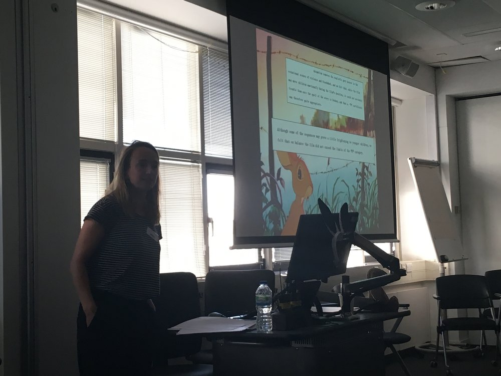 Fig. 3 - Emily Fussell (BBFC) on the classification history of  Watership Down .