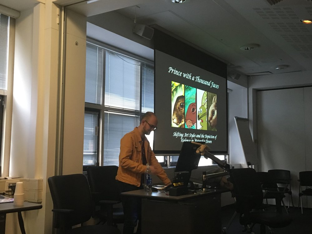 Fig. 6 - Sam Summers (Liverpool Hope University) on the relationship between  Watership Down 's shifting animation style and violence.