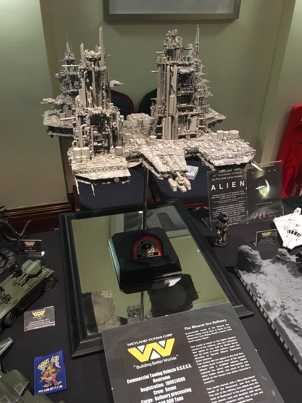Fig. 2 - The Nostromo Refinery from  Alien  built by the North Somerset Modelling Society (NSMS).