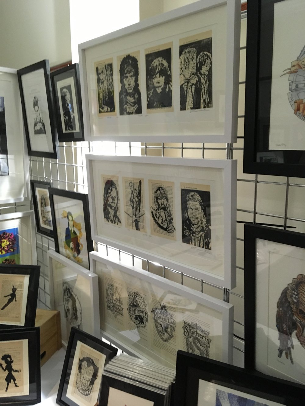 Fig. 3 - The work of  Brambledown Designs  and their silhouette prints.