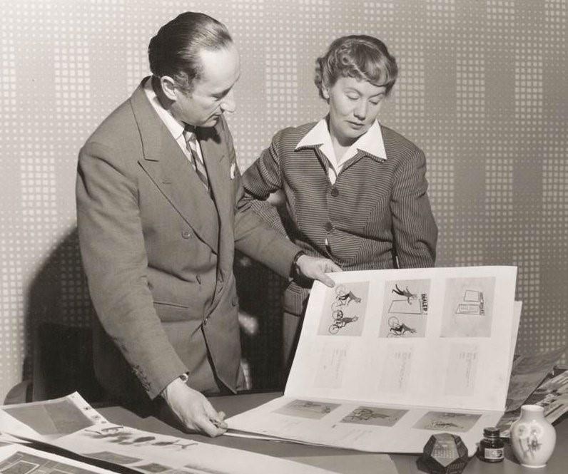 Fig.1 - John Halas and Joy Batchelor.