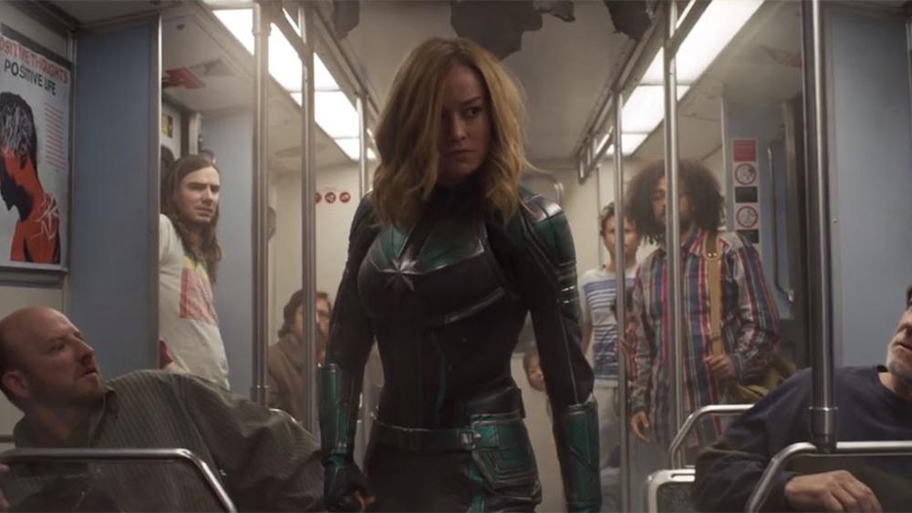 Fig. 2 - Brie Larson as Carol Danvers in  Captain Marvel .