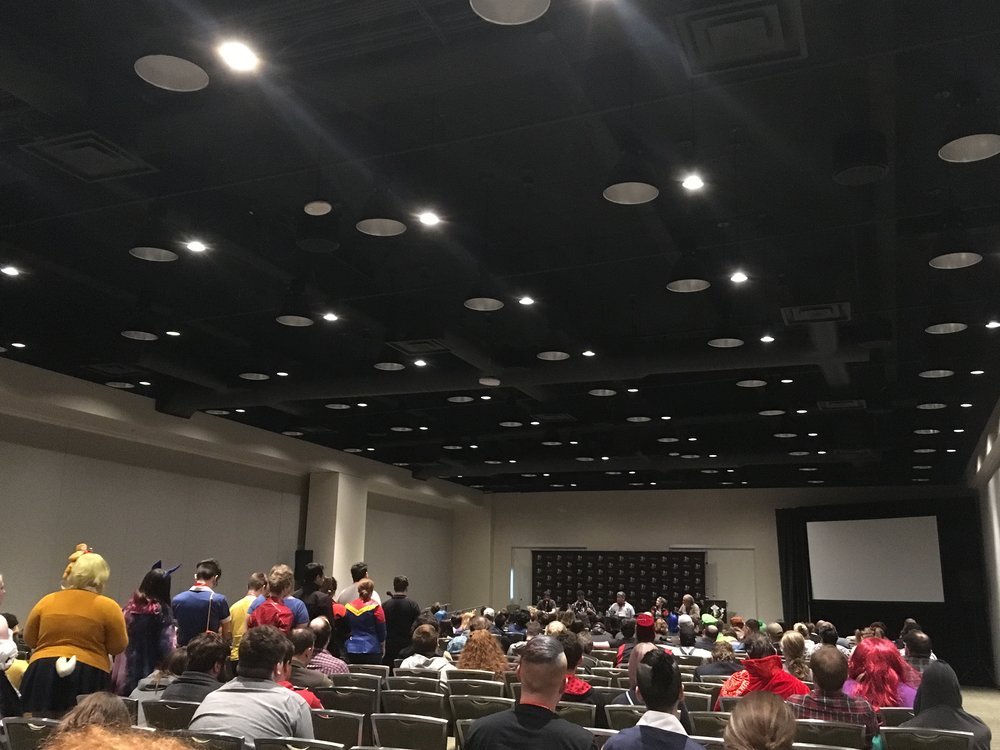 """Fig. 5 - The """"Working in Video Game Voiceover"""" panel at ECCC 2019."""